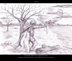 Archer - Pencil - Digitally Framed