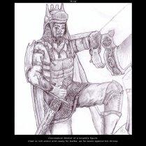 Posing Knight - Pencil - Digitally Framed