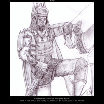 Posing Knight - Pencil - Digitally Framed