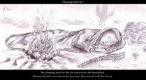 Sleeping Female Warrior - Pencil