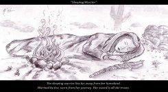Sleeping Female Warrior - Pencil