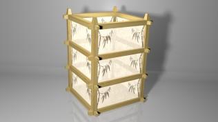 Oriental Lantern Model - Textured 3D Render