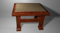 Chair 3D Model 3/4 View Textured Render