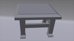 Chair Model 3/4 View Untextured Render