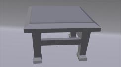 Chair Model 3/4 View Untextured Render