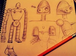 Laputa Robot Sculpt Concept Sketch
