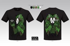 Forest Spirit Shirt Design Sheet